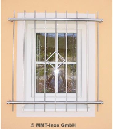 Fenstergitter Edelstahl mit Raute 1400mm x 800mm