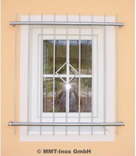 Fenstergitter Edelstahl mit Raute 1400mm x 1000mm