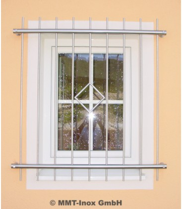 Fenstergitter Edelstahl mit Raute 1000mm x 800m