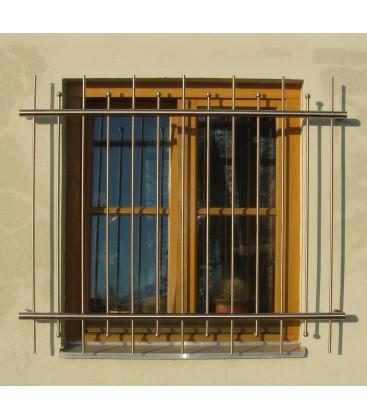Fenstergitter Edelstahl Standard 2400 x 1000 mm