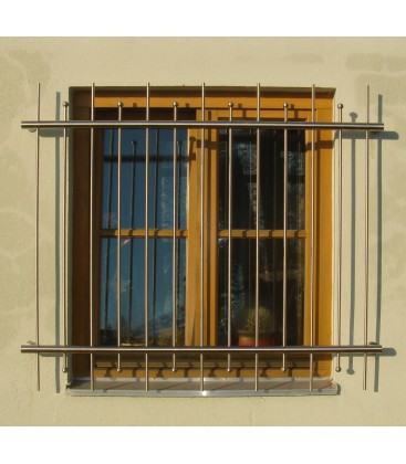Fenstergitter 800mm x 800mm Edelstahl Standard