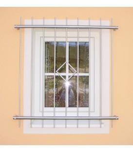 Fenstergitter Edelstahl mit Raute 800mm x 800mm